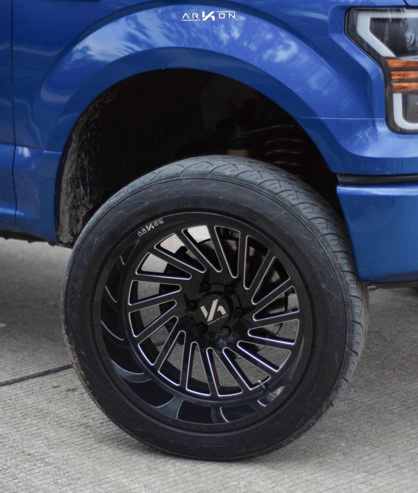 2 2017 F 150 Ford Maxtrac Suspension Lift 5in Arkon Off Road Caesar Black