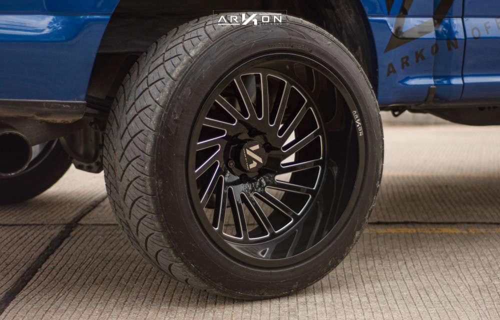4 2017 F 150 Ford Maxtrac Suspension Lift 5in Arkon Off Road Caesar Black