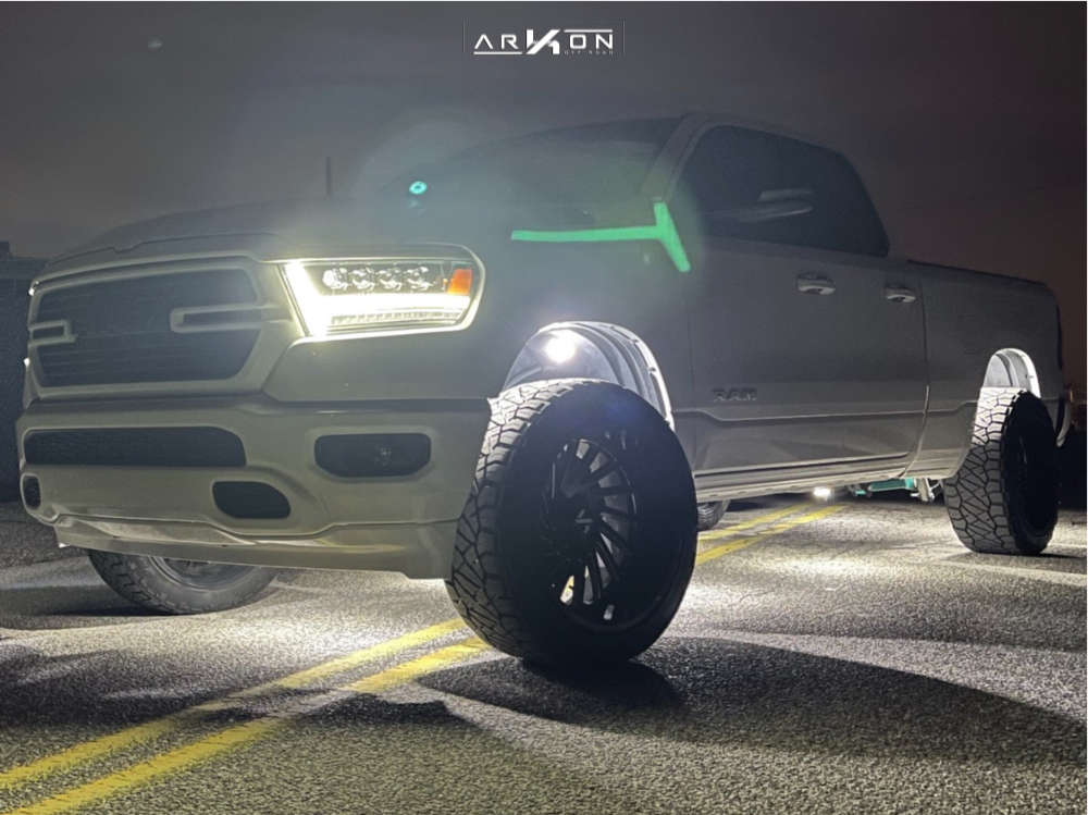 2 2020 1500 Ram Motofab Leveling Kit Arkon Off Road Caesar Black
