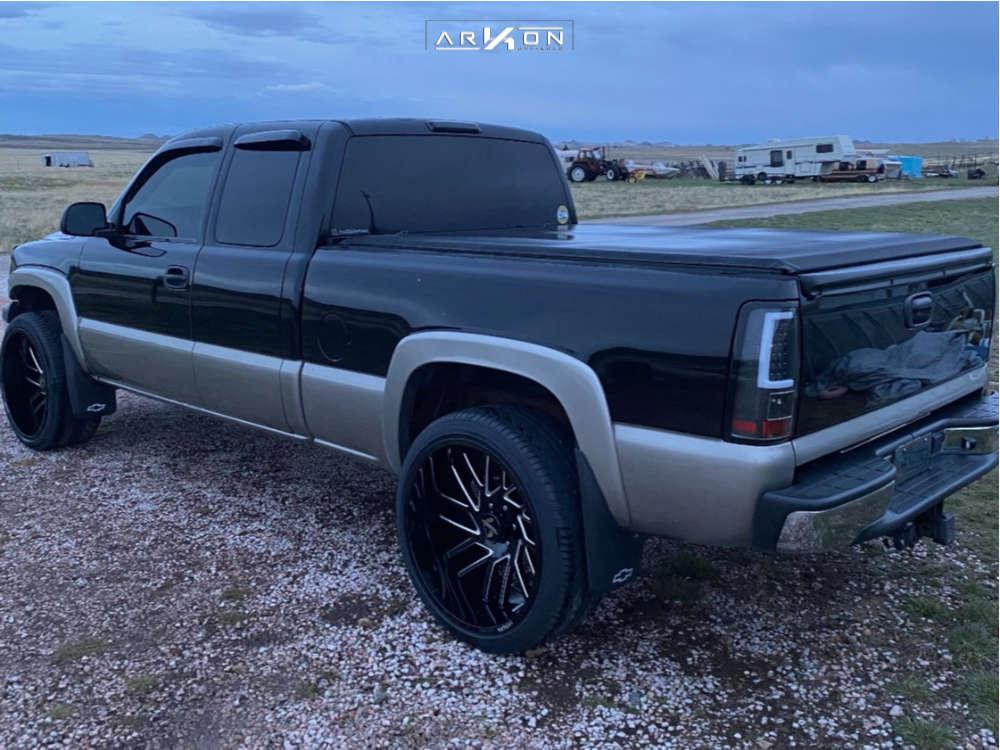 13 2002 Silverado 1500 Chevrolet Belltech Level 2in Drop Rear Arkon Off Road Mandela Black