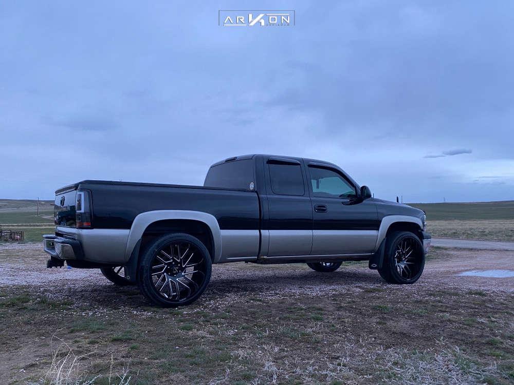 4 2002 Silverado 1500 Chevrolet Belltech Level 2in Drop Rear Arkon Off Road Mandela Black