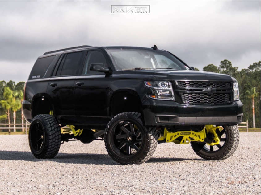 13 2015 Tahoe Chevrolet Mcgaughys Suspension Lift 9in Arkon Off Road Lincoln Machined Black
