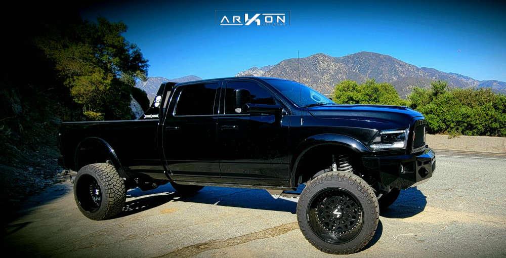 11 2016 2500 Ram Mcgaughys Suspension Lift 8in Arkon Off Road Crown Series Triumph Black