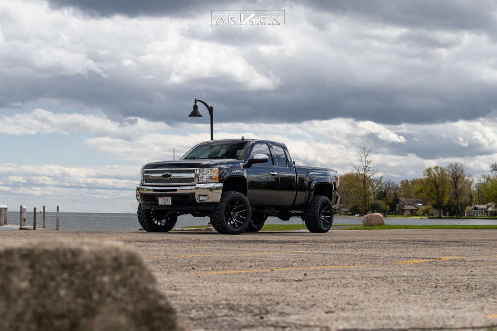8 2012 Silverado 1500 Chevrolet Bds Suspension Lift 6in Arkon Off Road Roosevelt Machined Black