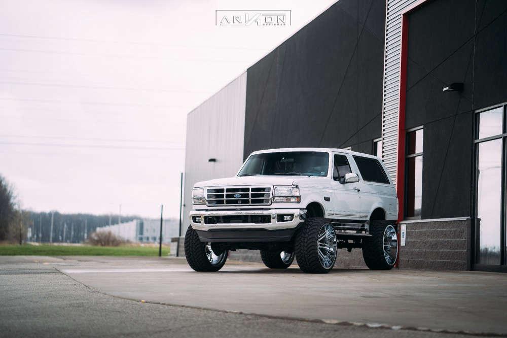 3 1993 Bronco Ford Superlift Suspension Lift 6in Arkon Off Road Davinci Chrome