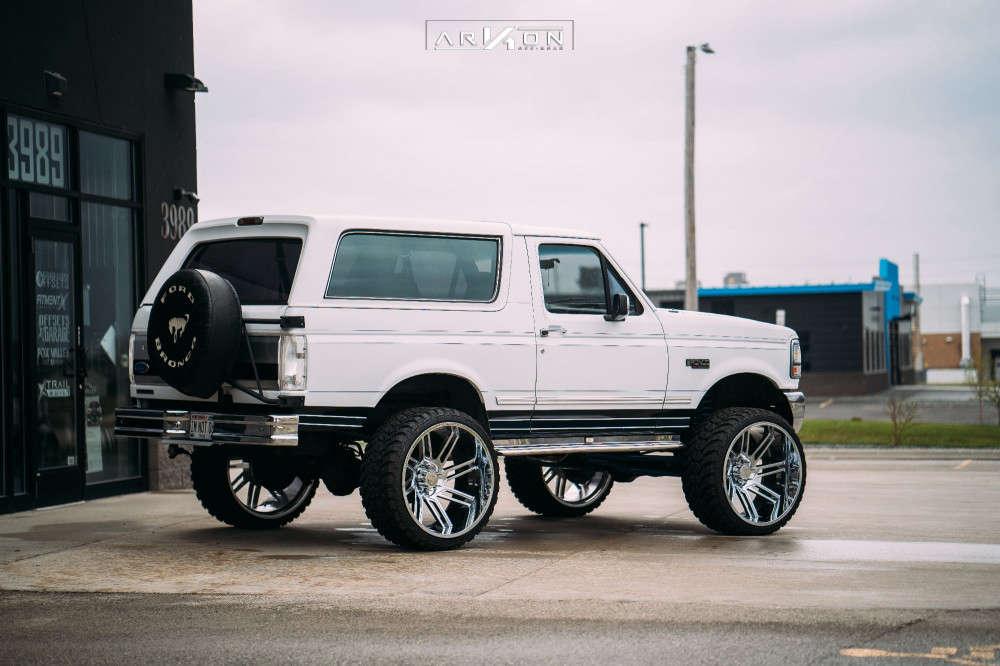 4 1993 Bronco Ford Superlift Suspension Lift 6in Arkon Off Road Davinci Chrome