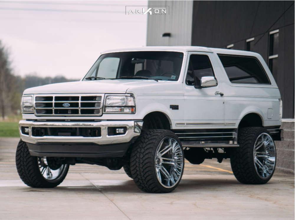 8 1993 Bronco Ford Superlift Suspension Lift 6in Arkon Off Road Davinci Chrome