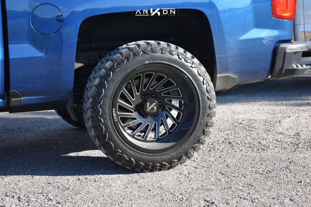 10 2018 Silverado 1500 Chevrolet Rough Country Leveling Kit Arkon Off Road Caesar Black