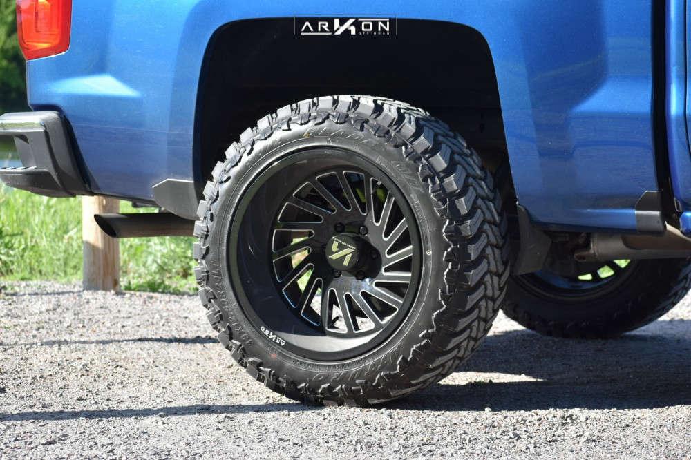11 2018 Silverado 1500 Chevrolet Rough Country Leveling Kit Arkon Off Road Caesar Black