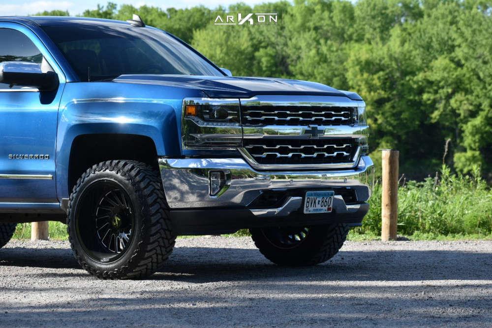 14 2018 Silverado 1500 Chevrolet Rough Country Leveling Kit Arkon Off Road Caesar Black