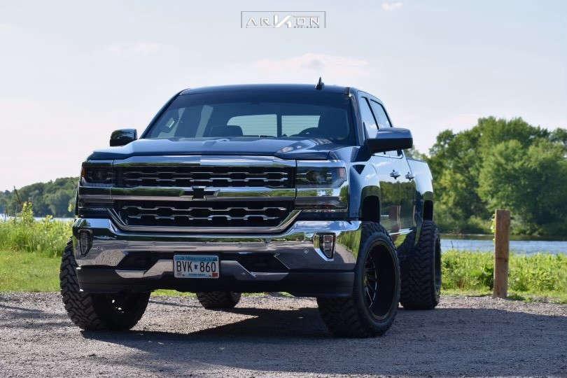 2 2018 Silverado 1500 Chevrolet Rough Country Leveling Kit Arkon Off Road Caesar Black