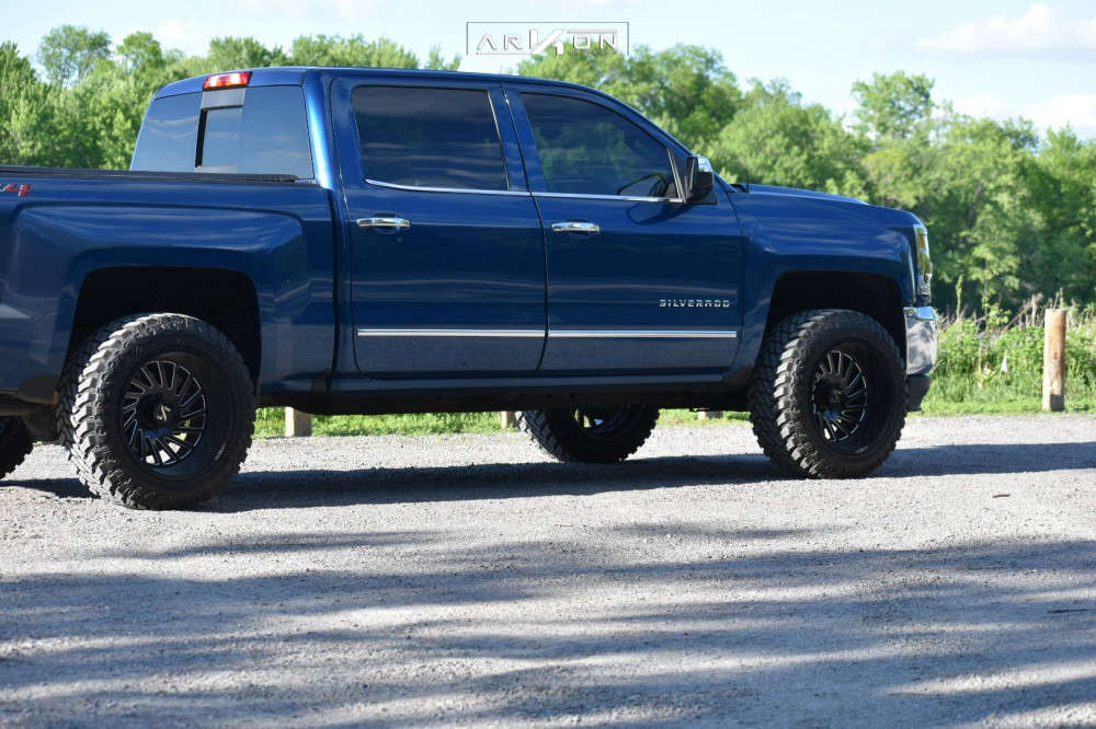 4 2018 Silverado 1500 Chevrolet Rough Country Leveling Kit Arkon Off Road Caesar Black