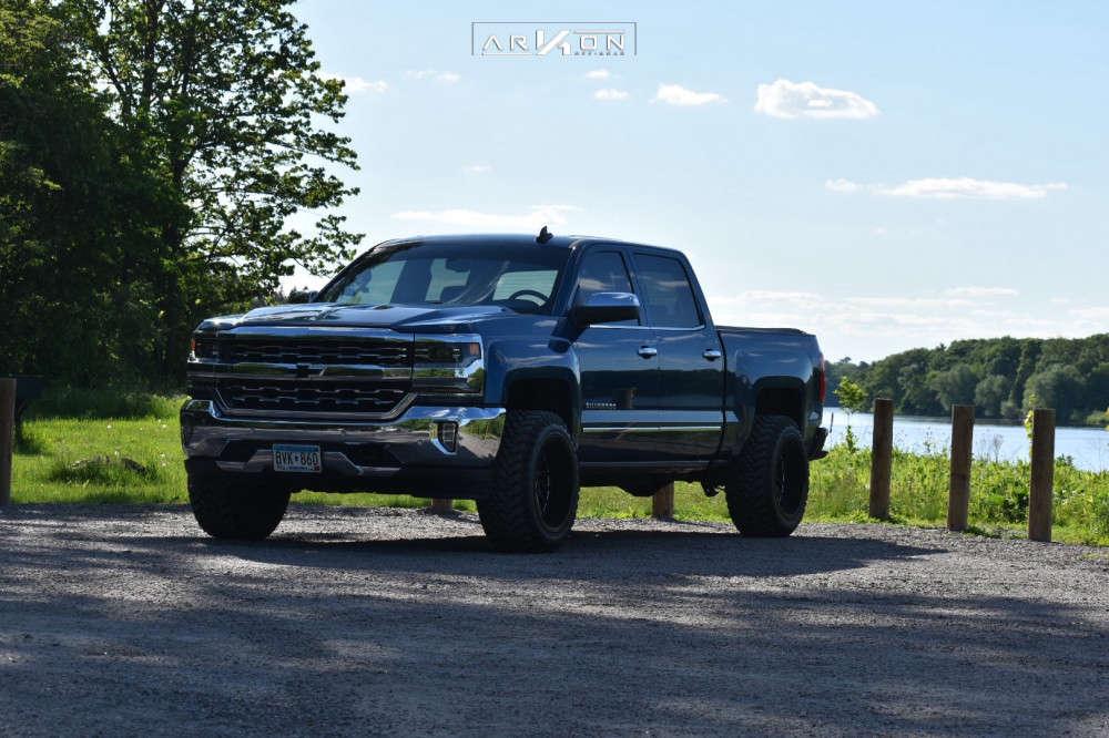 6 2018 Silverado 1500 Chevrolet Rough Country Leveling Kit Arkon Off Road Caesar Black