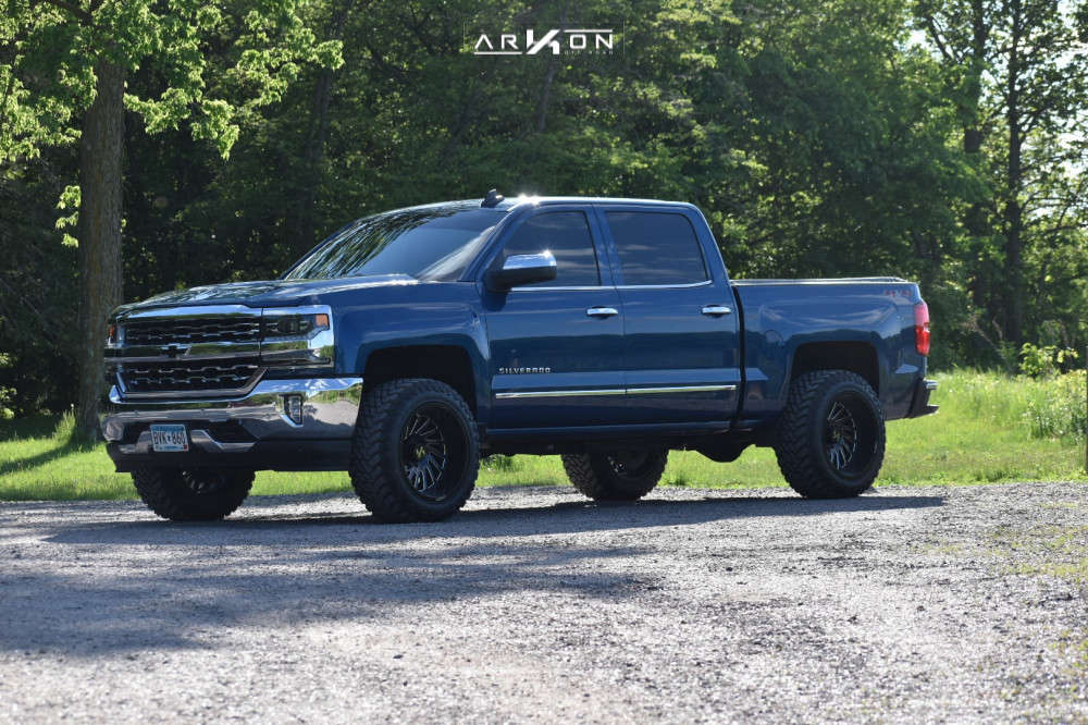 7 2018 Silverado 1500 Chevrolet Rough Country Leveling Kit Arkon Off Road Caesar Black