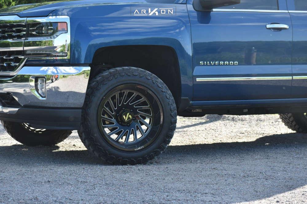 8 2018 Silverado 1500 Chevrolet Rough Country Leveling Kit Arkon Off Road Caesar Black