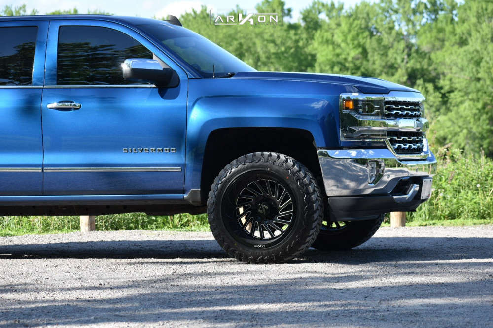 9 2018 Silverado 1500 Chevrolet Rough Country Leveling Kit Arkon Off Road Caesar Black