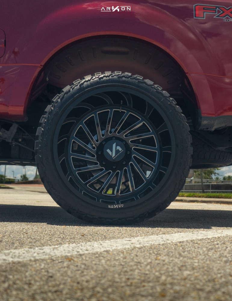 7 2017 F 250 Ford 2 Inch Level Leveling Kit Arkon Off Road Caesar Machined Black
