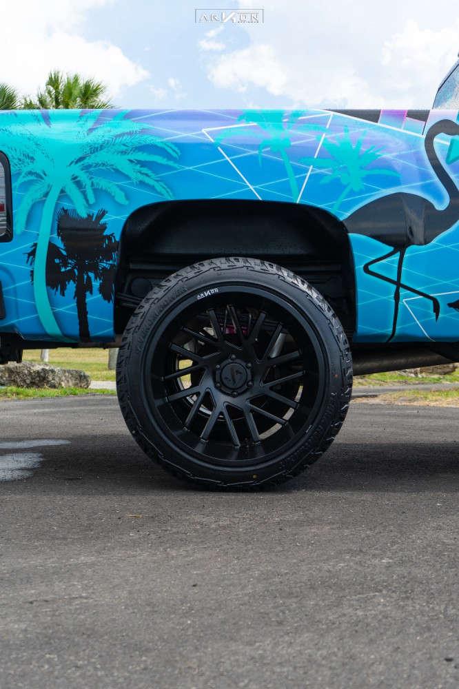 9 2007 Silverado 1500 Chevrolet Mcgaughys Suspension Lift 9in Arkon Off Road Mandela Black