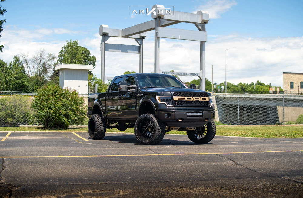 1 2014 F 150 Ford Rough Country Suspension Lift 6in Arkon Off Road Mandela Machined Black