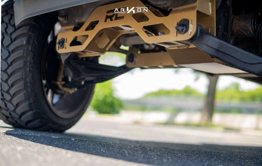 4 2014 F 150 Ford Rough Country Suspension Lift 6in Arkon Off Road Mandela Machined Black