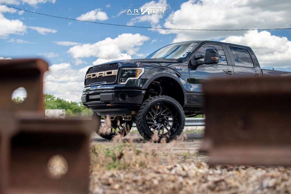 5 2014 F 150 Ford Rough Country Suspension Lift 6in Arkon Off Road Mandela Machined Black