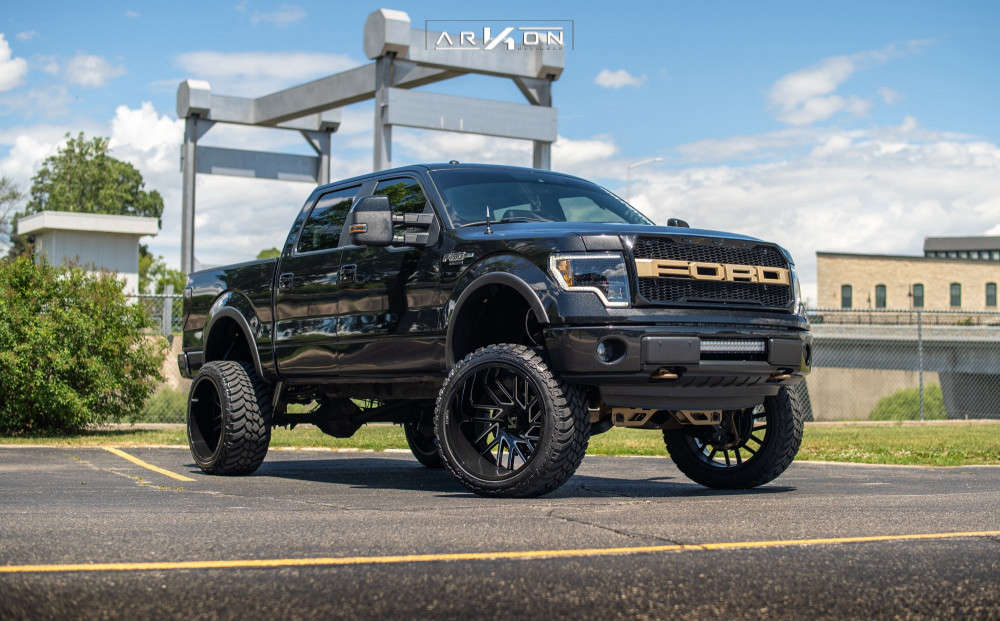 7 2014 F 150 Ford Rough Country Suspension Lift 6in Arkon Off Road Mandela Machined Black
