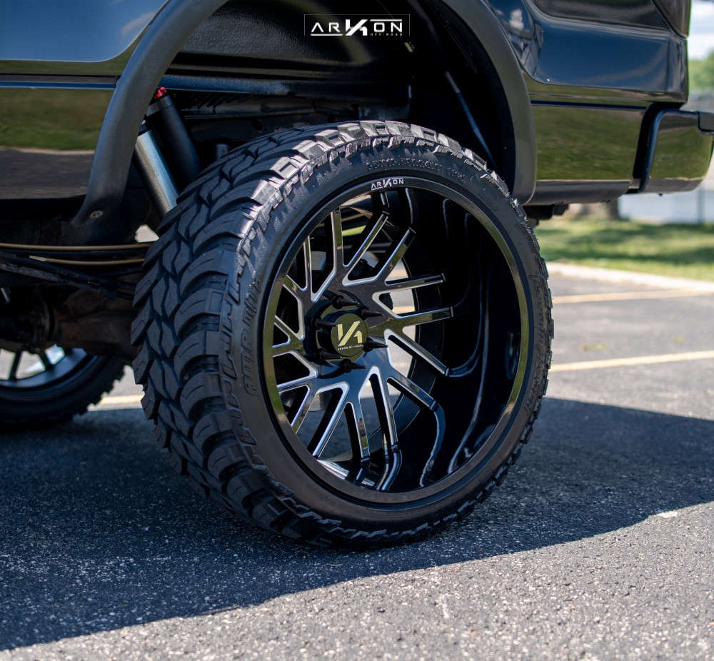 8 2014 F 150 Ford Rough Country Suspension Lift 6in Arkon Off Road Mandela Machined Black