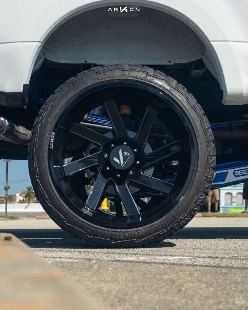 2 2019 F 250 Super Duty Ford Cognito Suspension Lift 6in Arkon Off Road Lincoln Machined Black