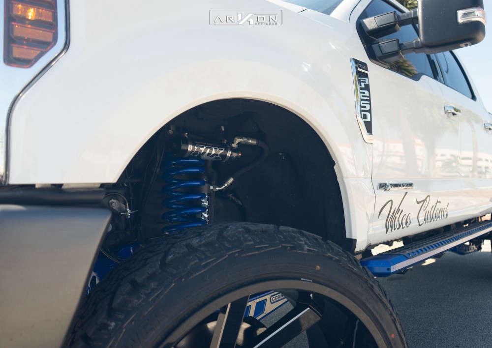 4 2019 F 250 Super Duty Ford Cognito Suspension Lift 6in Arkon Off Road Lincoln Machined Black