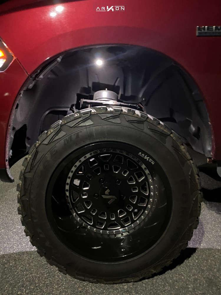 6 2011 1500 Ram Rough Country Suspension Lift 6in Arkon Off Road Crown Series Triumph Black