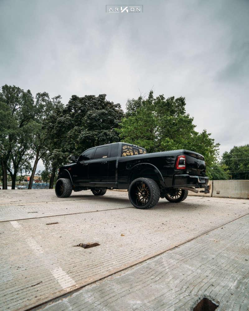 3 2019 2500 Ram Sdt Suspension Lift 35in Arkon Off Road Mandela Machined Black
