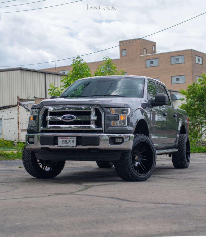 3 2015 F 150 Ford Halo Lift Suspension Lift 3in Arkon Off Road Davinci Black