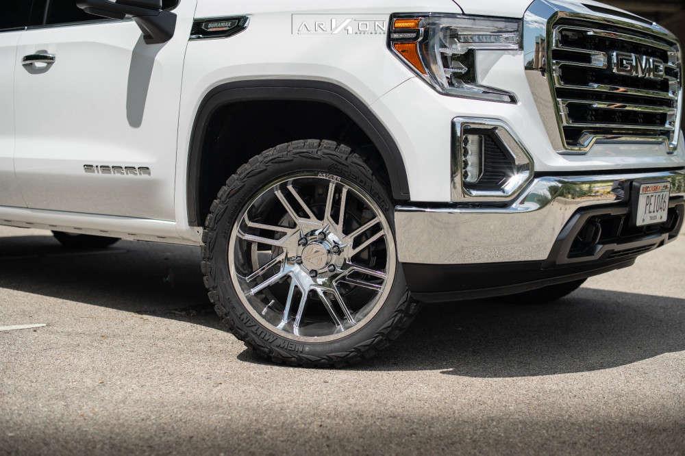 5 2021 Sierra 1500 Gmc Rough Country Leveling Kit Arkon Off Road Davinci Chrome
