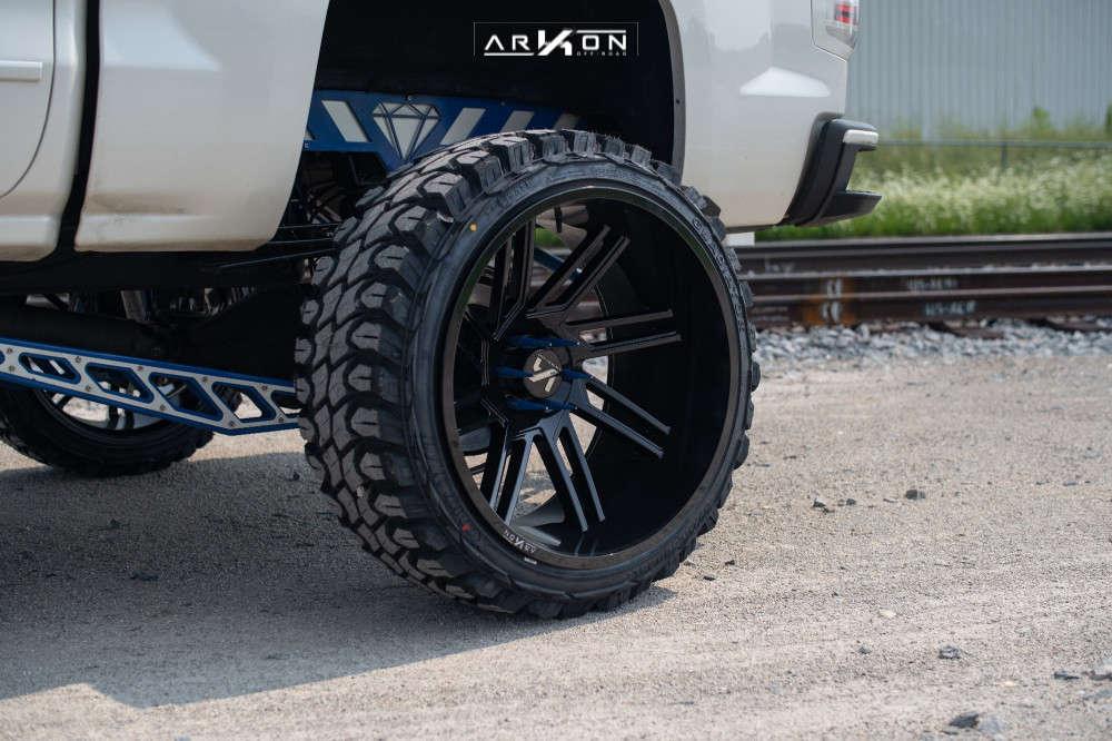 2 2014 Silverado 1500 Chevrolet Cognito Suspension Lift 12in Arkon Off Road Davinci Black