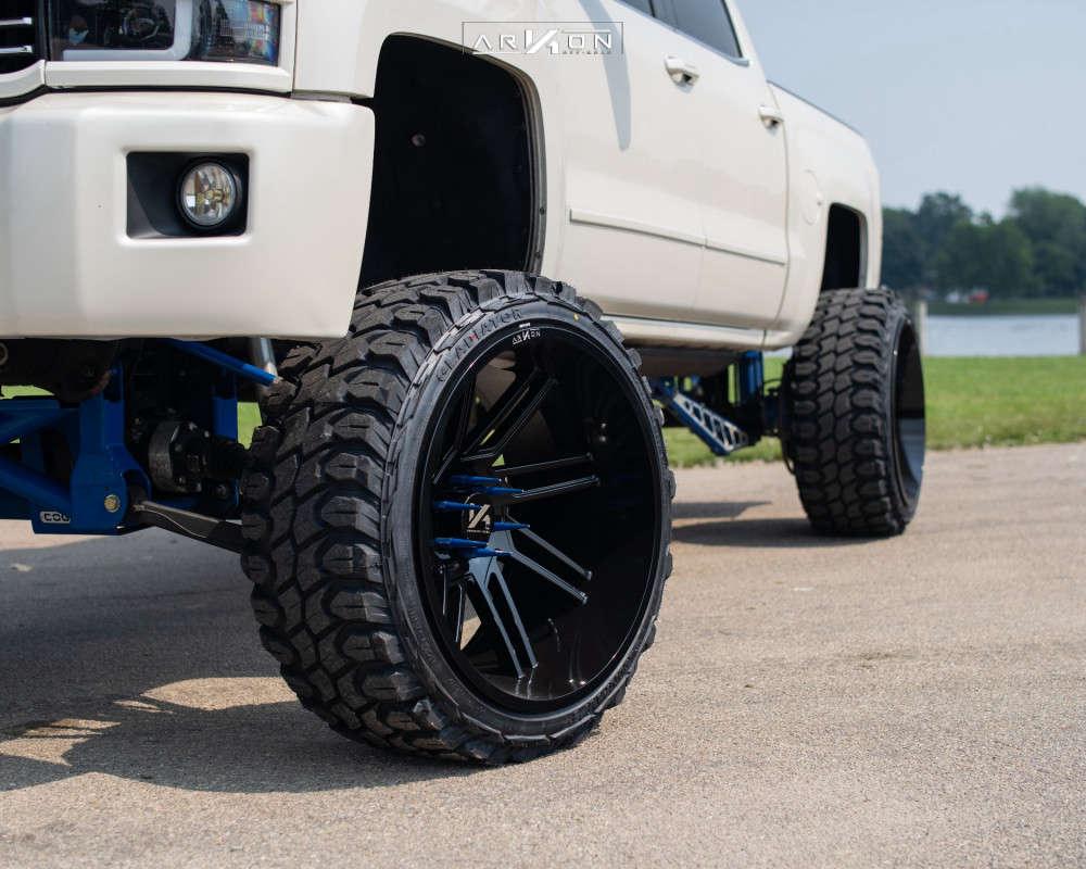 4 2014 Silverado 1500 Chevrolet Cognito Suspension Lift 12in Arkon Off Road Davinci Black