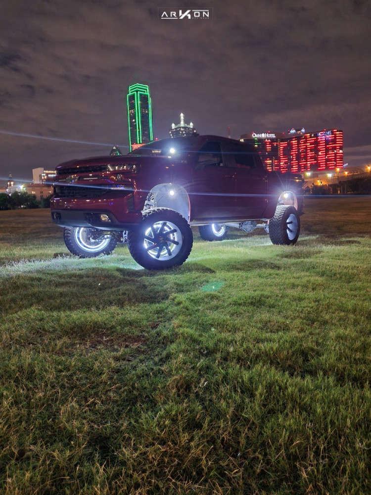 14 2019 Silverado 1500 Chevrolet Mcgaughys Suspension Lift 9in Arkon Off Road Lincoln Machined Black