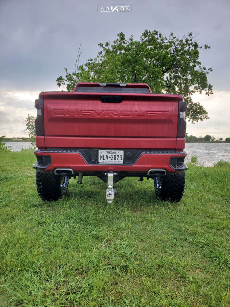 3 2019 Silverado 1500 Chevrolet Mcgaughys Suspension Lift 9in Arkon Off Road Lincoln Machined Black