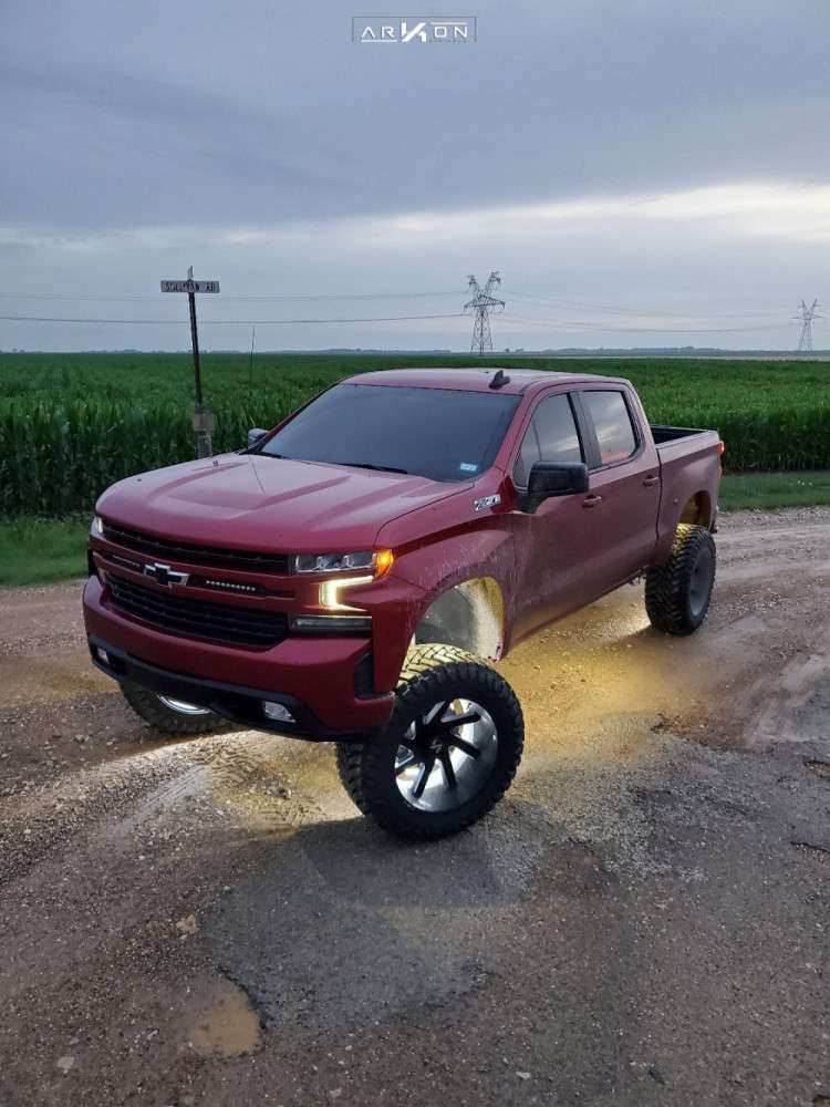 8 2019 Silverado 1500 Chevrolet Mcgaughys Suspension Lift 9in Arkon Off Road Lincoln Machined Black