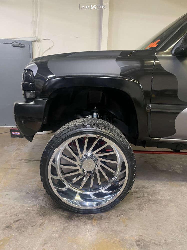 5 2001 Silverado 2500 Hd Chevrolet Rough Country Suspension Lift 4in Arkon Off Road Caesar Chrome