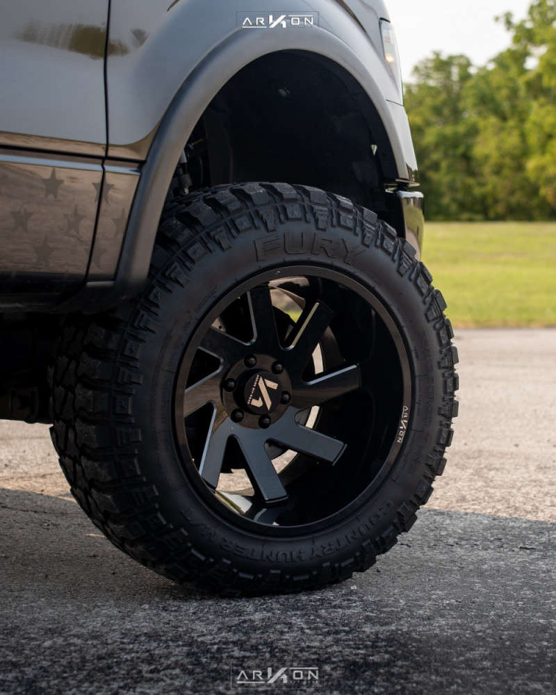 2 2012 F 150 Ford Rough Country Suspension Lift 6in Arkon Off Road Lincoln Machined Black