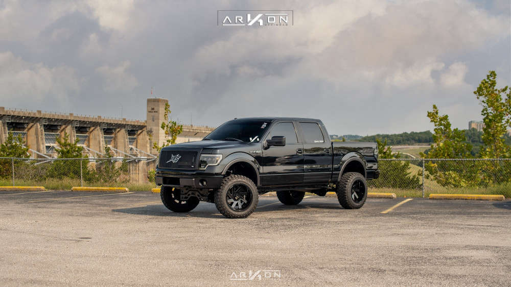 3 2012 F 150 Ford Rough Country Suspension Lift 6in Arkon Off Road Lincoln Machined Black