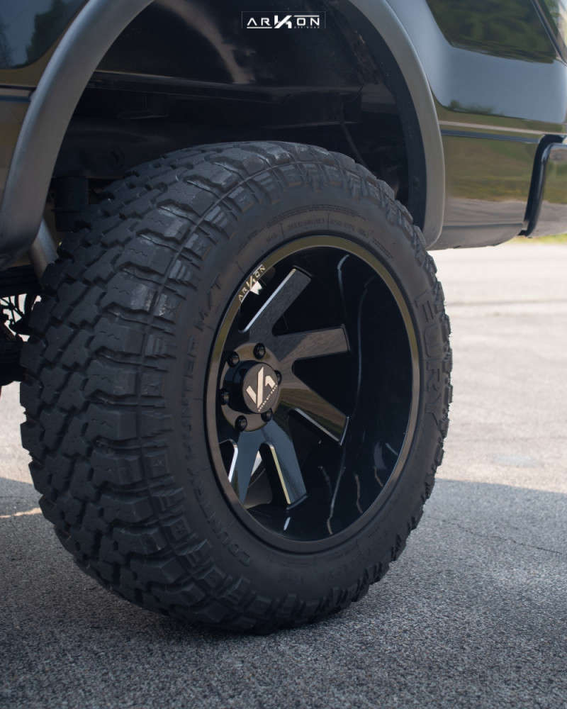 4 2012 F 150 Ford Rough Country Suspension Lift 6in Arkon Off Road Lincoln Machined Black