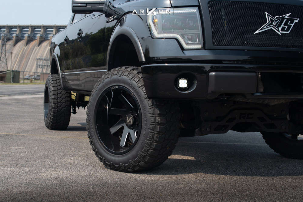 5 2012 F 150 Ford Rough Country Suspension Lift 6in Arkon Off Road Lincoln Machined Black