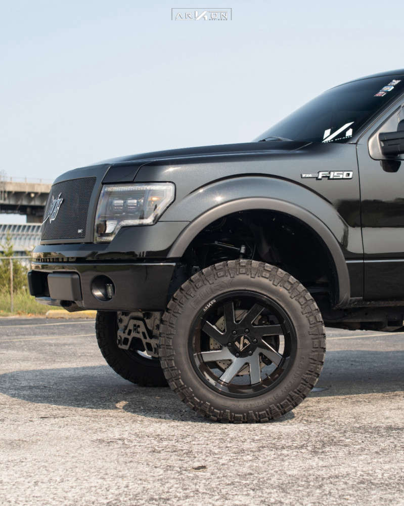 6 2012 F 150 Ford Rough Country Suspension Lift 6in Arkon Off Road Lincoln Machined Black