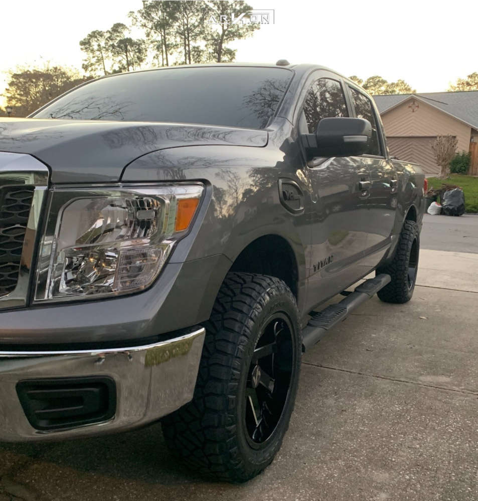 13 2017 Titan Nissan Rough Country Lowered 2f 4r Arkon Off Road Lincoln Black