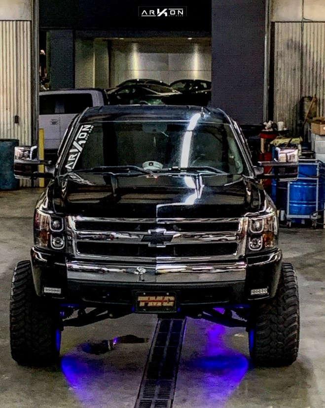 2 2008 Silverado 1500 Hd Chevrolet Bds Suspension Lift 85in Arkon Off Road Lincoln Black