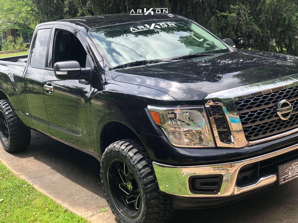 2 2018 Titan Nissan Fabtech Leveling Kit Arkon Off Road Cleopatra Black