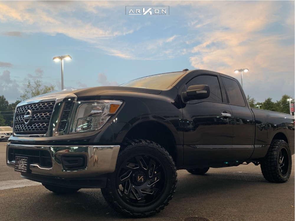 6 2018 Titan Nissan Fabtech Leveling Kit Arkon Off Road Cleopatra Black