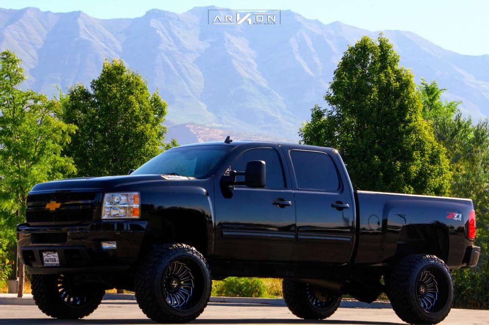 4 2013 Silverado 2500 Hd Chevrolet Pro Comp Suspension Lift 6in Arkon Off Road Alexander Machined Black