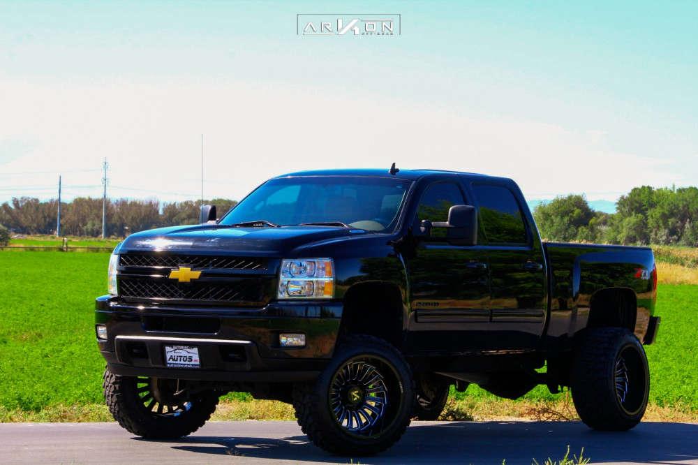 6 2013 Silverado 2500 Hd Chevrolet Pro Comp Suspension Lift 6in Arkon Off Road Alexander Machined Black